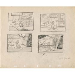 Modern Inventions Donald Duck storyboard signed by Carl Banks