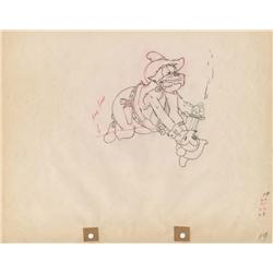 Two-Gun Mickey original production drawing