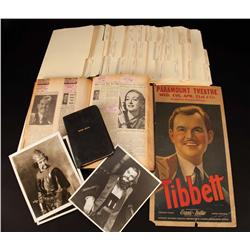 Lawrence Tibbett's personal collection of photos & printed ephemera from his Opera & stage career