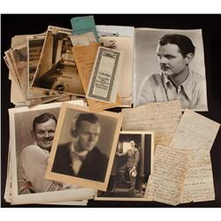 Archive of photos, documents, letters, & other ephemera covering personal life of Lawrence Tibbett