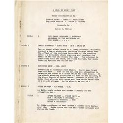 Original hand-typed script for the 1928 A Girl in Every Port in Howard Hawks personal binder