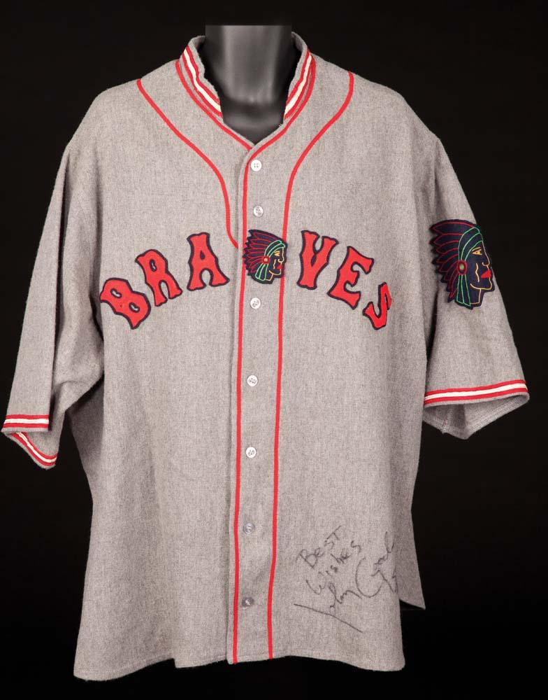 "hot sale online e942e 997cf John Goodman ""Babe Ruth"" signed screen-worn jersey from The Babe"