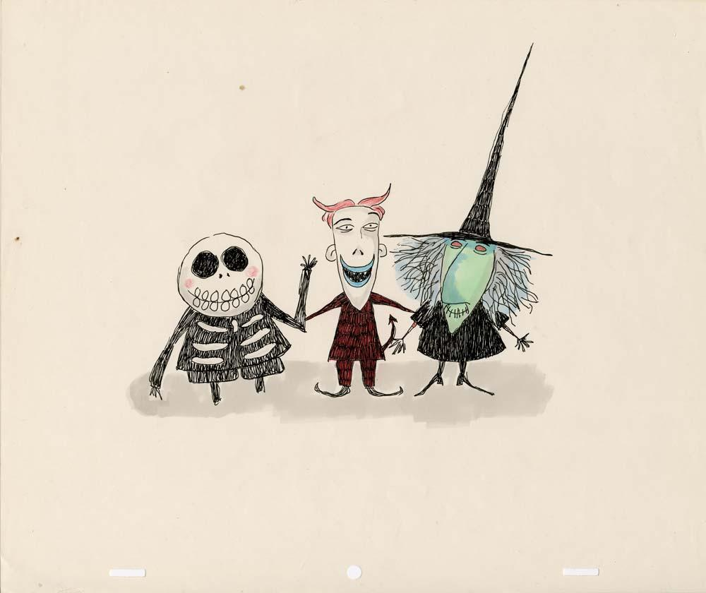 Tim Burton Nightmare Before Christmas Artwork.Original Tim Burton Artwork For Lock Shock And Barrel From The Nightmare Before Christmas