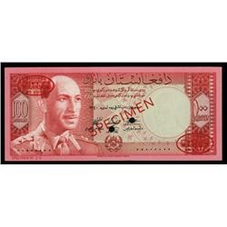 Bank of Afghanistan, 1961-63 Issue Specimen.
