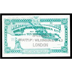 Papuan Industries Ltd, 1913 Issue Specimen Scrip Payable In Australian Shillings.