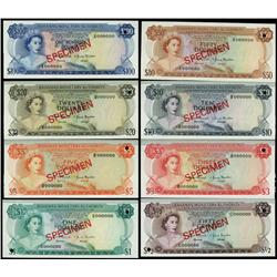 Bahamas Monetary Authority 1968 Specimen Set of 8.