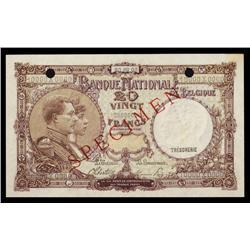 Banque National De Belgique, 1940-47 Specimen.