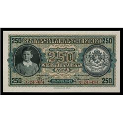 Banque national De Bulgarie, 1943 Issue.