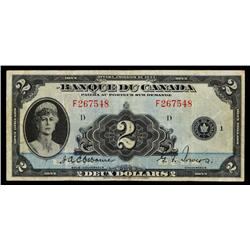 Bank of Canada, 1935 French Issue.