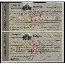 Polledo, Rionda & Co. Uncut Bills of Exchange.