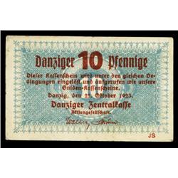 Danziger Zentralkasse - Danzig Central Fin. Dept., 1923 First Gulden Issue.