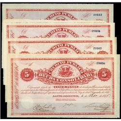 Credito Publico-Deuda Consolidada Issue, 1876 Quartet.