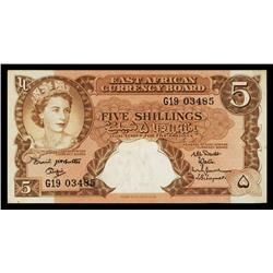 East Africa Currency Board, ND (1961) Issue.