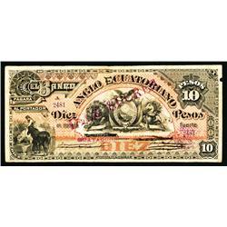 El Banco Anglo Ecuatoriano, 1885 Provisional Issue Unlisted Denomination.