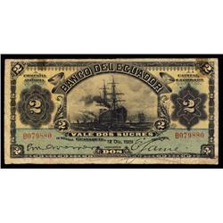 Banco Del Ecuador, 1901 Regular Issue.