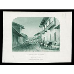 Street Scene in Cuenca, Ecuador, Possibly used on Banknotes Printed by ABNC.