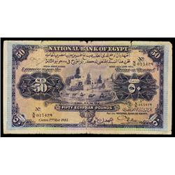 National Bank of Egypt, 1913-17 (1945) Issue.