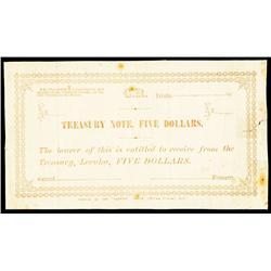 C.R. - Cakobau Rex, 1871 Treasury Note Issue.