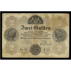 Kingdom of Bavaria, Badische Bank, 1866 Issue.
