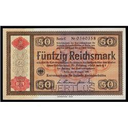 Konversionskasse, Third Reich, 1933/34 Issue With Overprint.