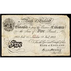 Bank of England, 1923 London Issue.