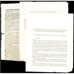 Great Britain, Bank of England 1797 & 1818, Counterfeiting Petitions.