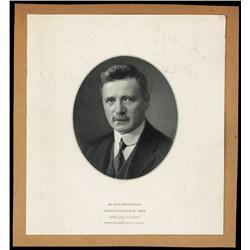 Banque Nationale De Grece Proof Portrait of Mr. Jean Drossopoulos.