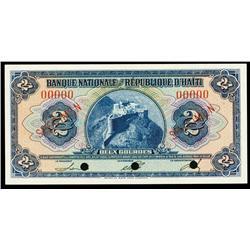 Banque Nationale De La Republique D'Haiti Trio.