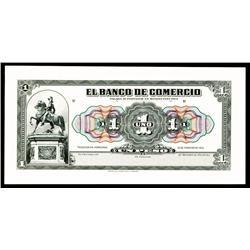 El Banco de Comercio, 1915 Issue Proof.