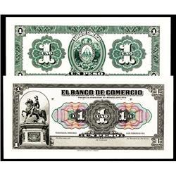 El Banco De Commercio, 1915 Issue Proof Banknote.