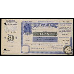 Indian Postal Order, 1965 Issue.