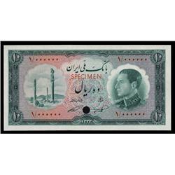 Bank Melli Iran, ND (1954) / SH1333 Color Trial Specimen.