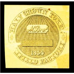Mayfield Factory, 1854 Half Crown Token.