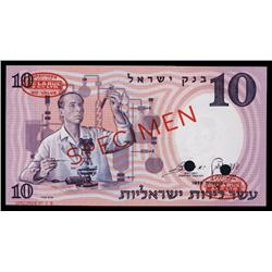 Bank of Israel, 1958 / 5718 Specimen Issue Specimen.