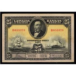 Latvijas Bankas, 1928-29 Issue.