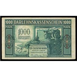 Darlehnskasse Ost, State Loan Bank East, 1918 Issue.