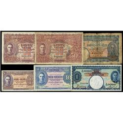 Board of Commissioners of Currency, Malaya 1940-41 Issue Sextet.