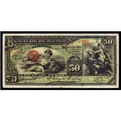 Banco De Durango, 1913-14 Issue.
