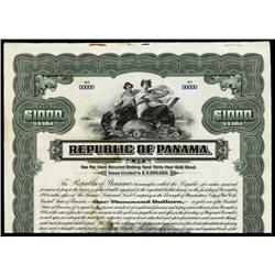 Republic of Panama, 1914 Issue Specimen Bond.