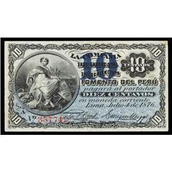 Compania De Obras Publicas Y Fomento Del Peru Banknote.