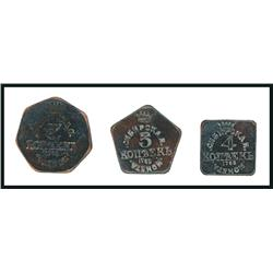 Russia-Siberia 1763 Leather Money Scrip, Possibly From Coal Mining Company.