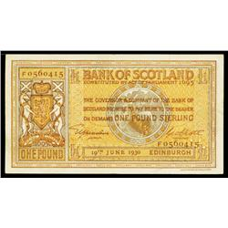 Bank of Scotland, 1929-35 Issue.