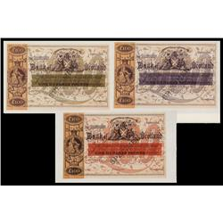 Bank of Scotland, ND (ca.1850's) Banknote Essay Proposal Proofs.
