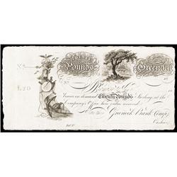 Greenock Bank Co., 18xx (ca.1820) Issue.