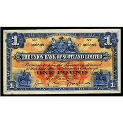Union Bank of Scotland, 1924-27 Issue.