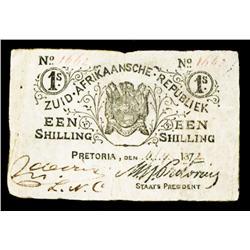 ZAR - Zuid-Afrikaansche Republiek, the Boer State, 1872 Issue.