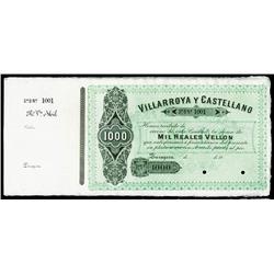 Villarroya Y Castellano, ND (ca.1870's) Specimen.