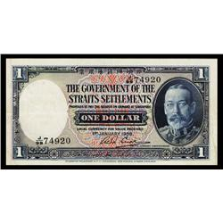 Government of the Straits Settlements, 1935 Issue Banknote.