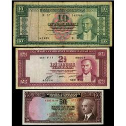 Central Bank of Turkey Trio.