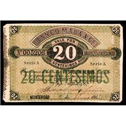 Banco Mauá & Ca., 1863-65 Issue Banknote.